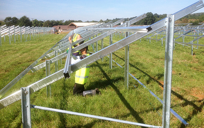 Photovoltaic ground-mounted systems